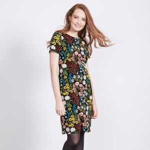 Boden Carina Floral Forest Multicolored Dress